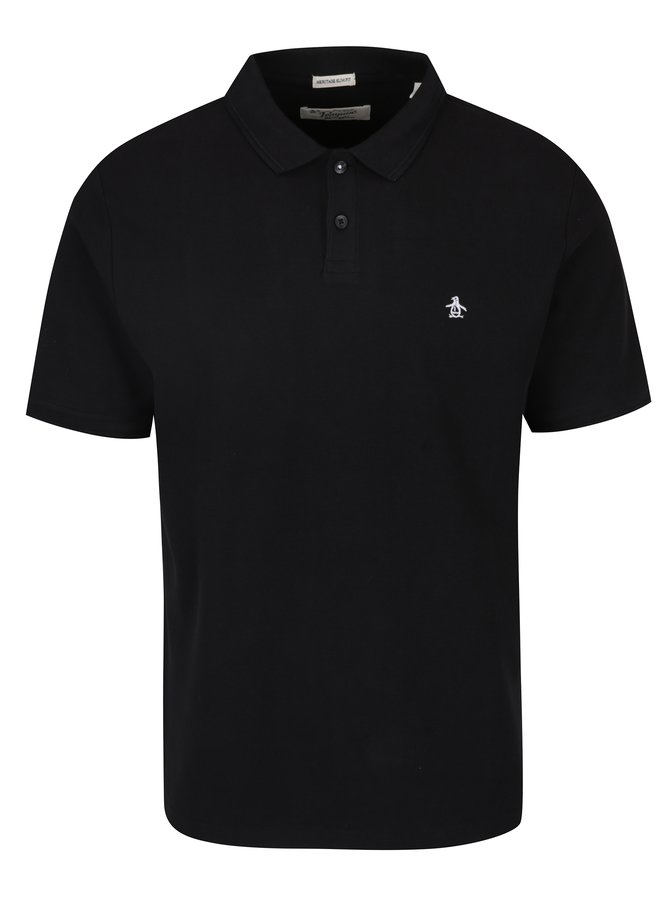 Černé slim fit polo tričko Original Penguin Winston