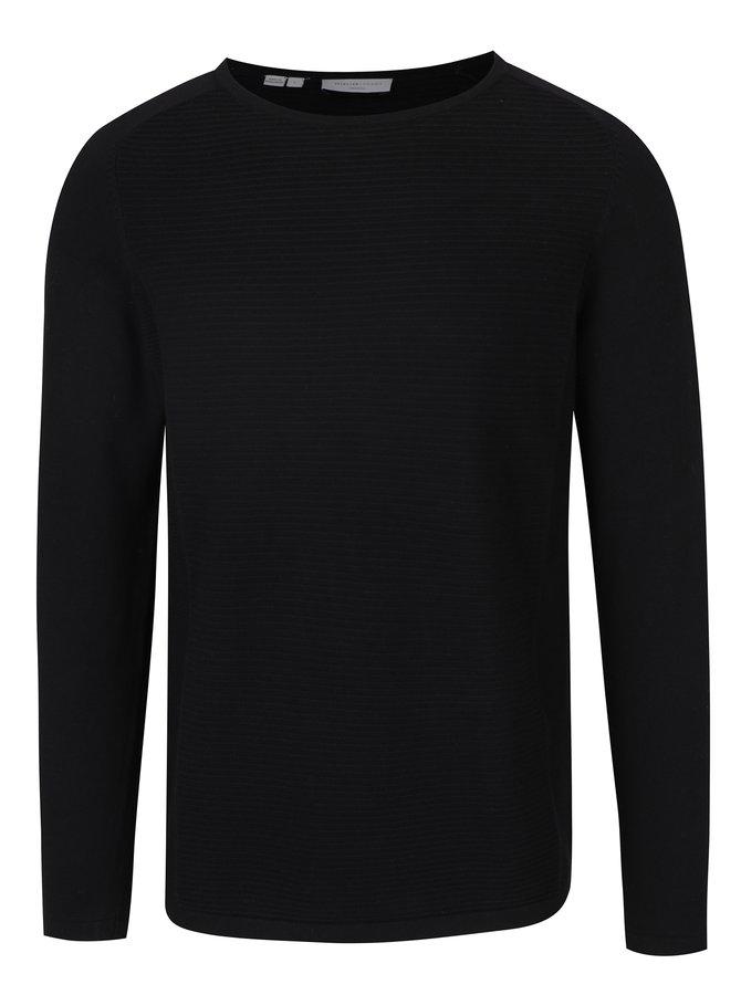 Pulover negru cu model - Selected Homme Bake