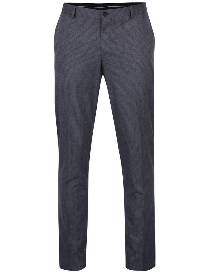 Pantaloni albastru petrol cu model -  Selected Homme Skinny