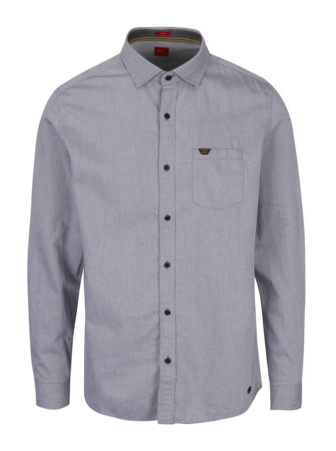 Světle šedá pánská slim fit košile s.Oliver