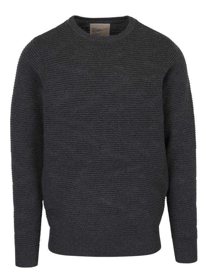 Tmavě šedý svetr RVLT