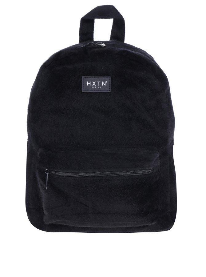 Černý batoh z umělé kožešiny HXTN supply