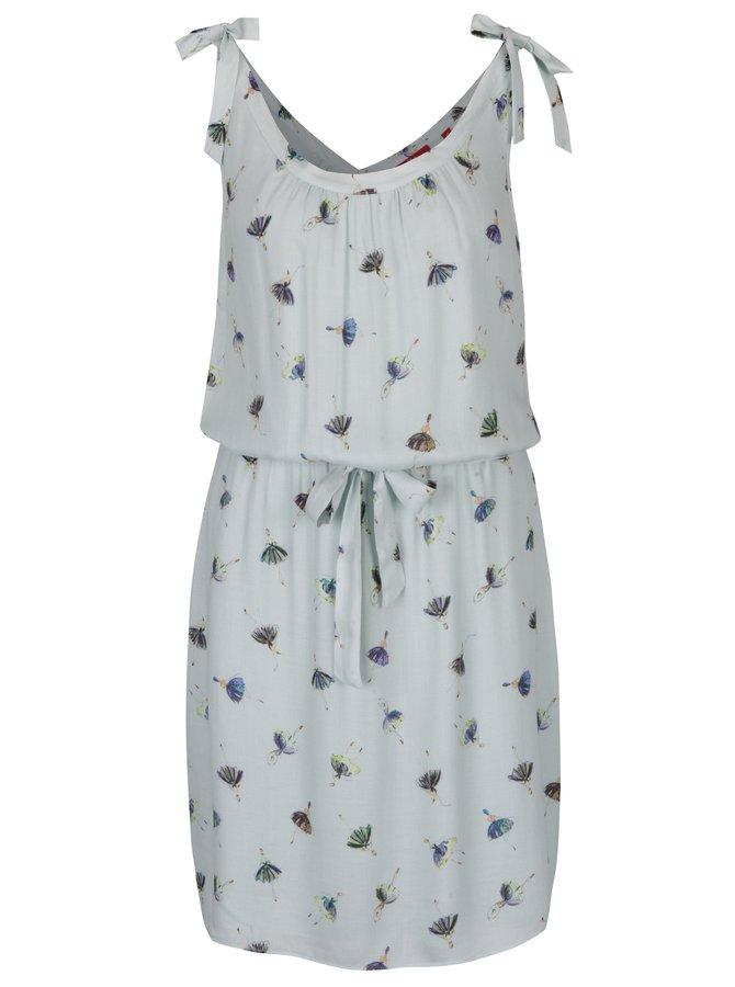 Světle modré vzorované šaty bez rukávů šaty s.Oliver