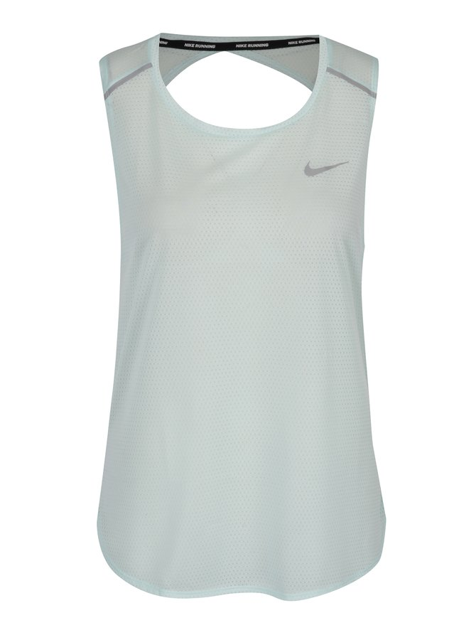 Mentolové dámské funkční tílko s průstřihem na zádech Nike