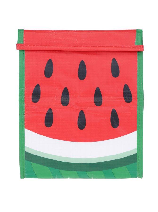Zeleno-červený svačinový sáček s motivem melounu Mustard