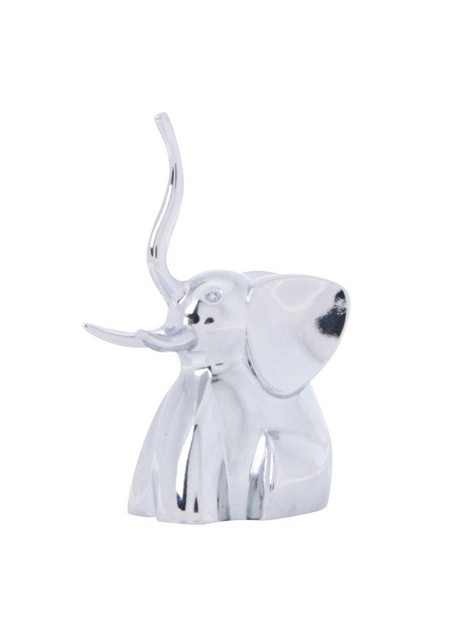 Chromový stojánek na šperky ve tvaru slona Umbra Zoola Cat