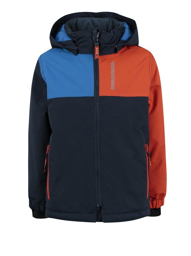 Oranžovo-modrá dětská zimní bunda Name it Storm