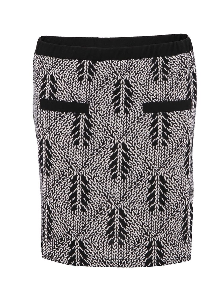 Černo-bílá vzorovaná sukně GINGER+SOUL