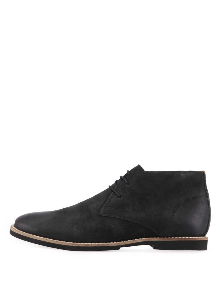 Černé kožené desert boty Frank Wright Totton II
