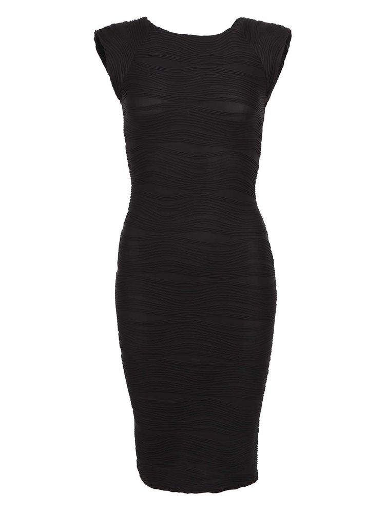 Čierne puzdrové šaty AX Paris