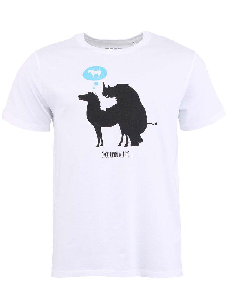 Biele pánske tričko ZOOT Originál Unicorn Rhino