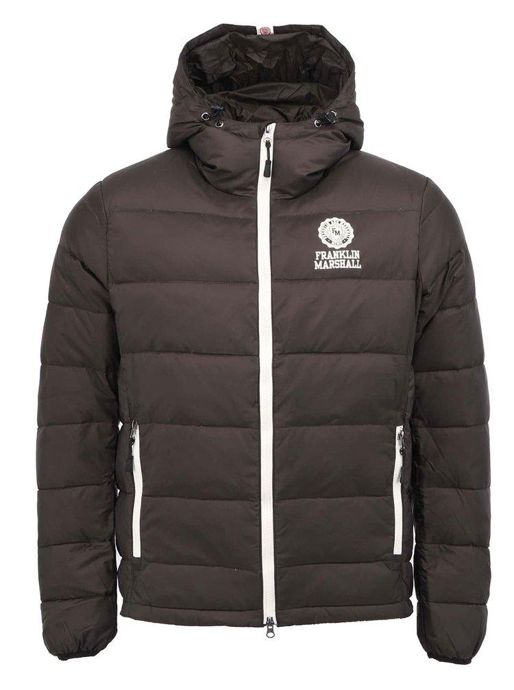 Jachetă bărbătească neagră Franklin & Marshall cu umplutură din puf de gâscă