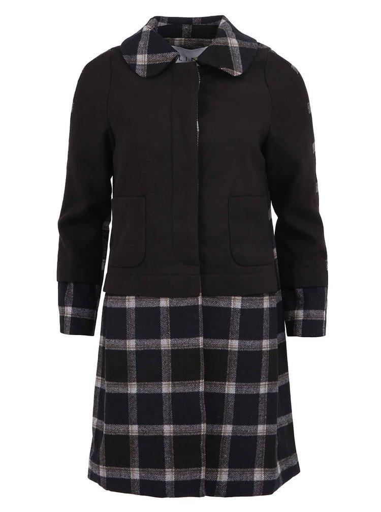 Čierny kockovaný kabát Kling Whitby