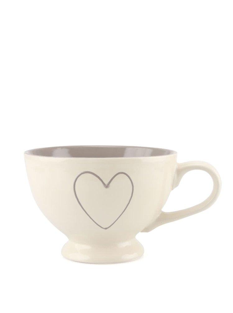 Ceașcă alb-gri Dakls din ceramică