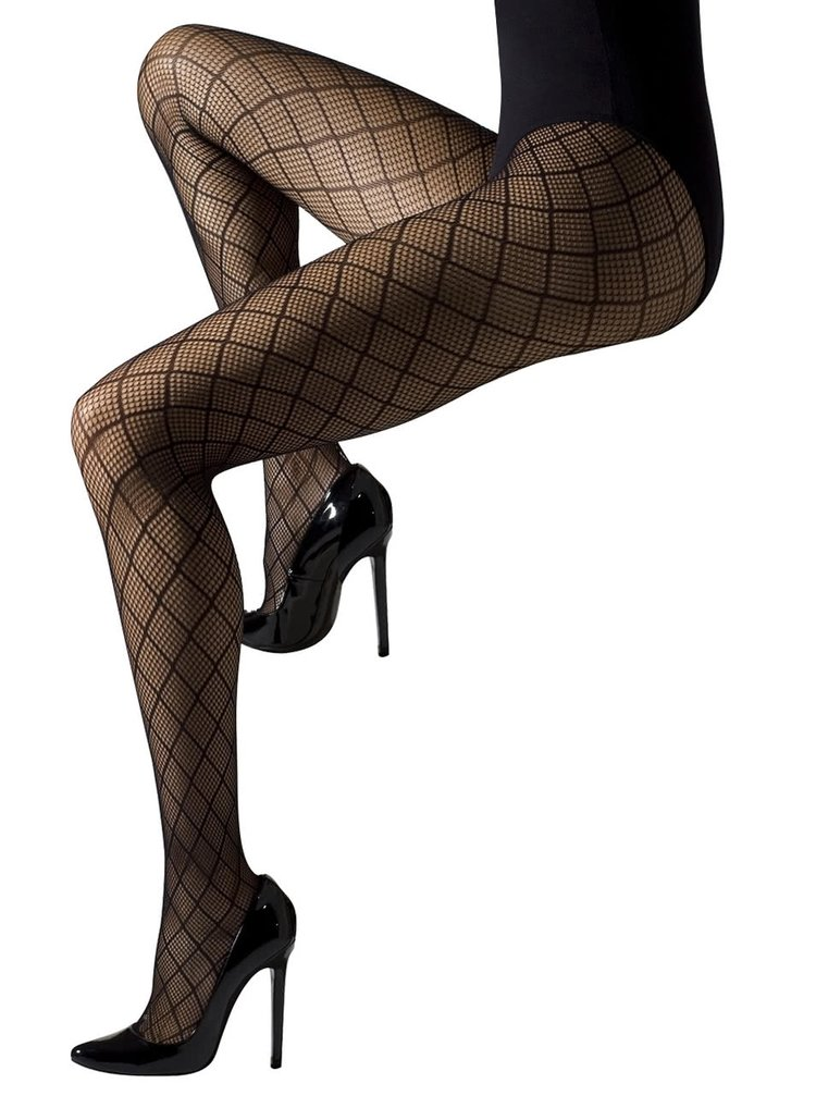 Černé síťované punčochové kalhoty Gipsy