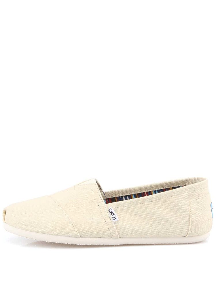 Béžové pánske loafers TOMS Canvas Classic