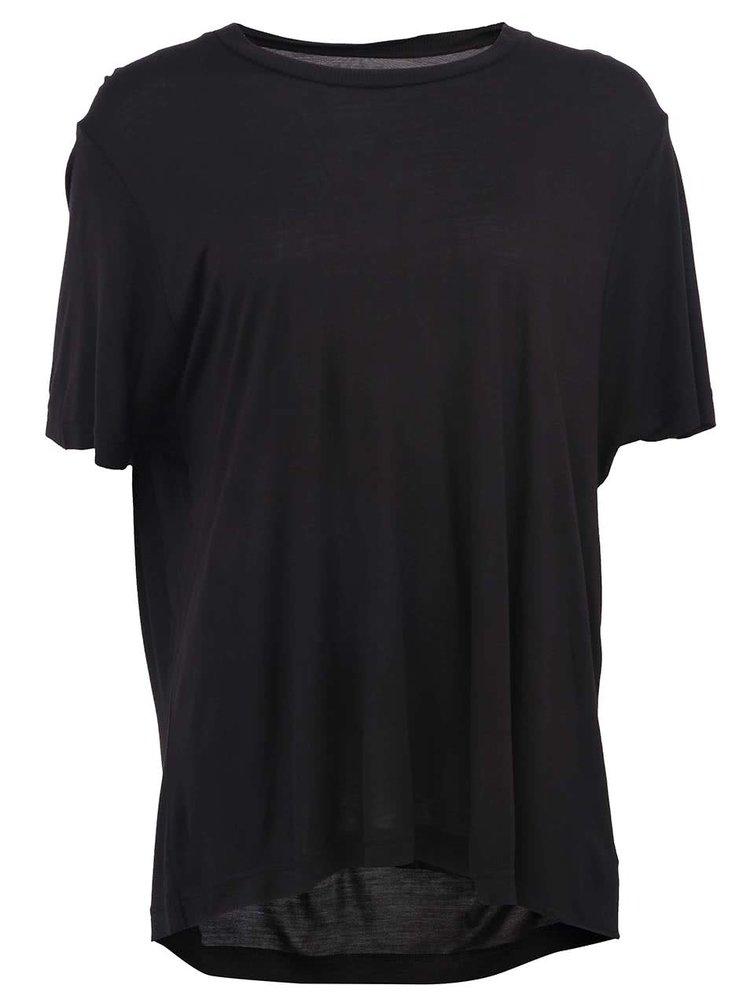 Tricou negru de dama cu croiala lejera, model Big de la CHEAP MONDAY