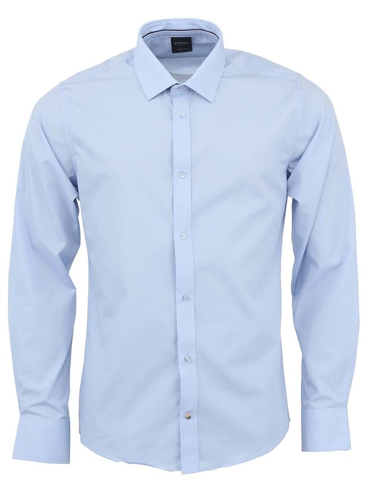 Svetlomodrá košeľa Bertoni Slim Fit
