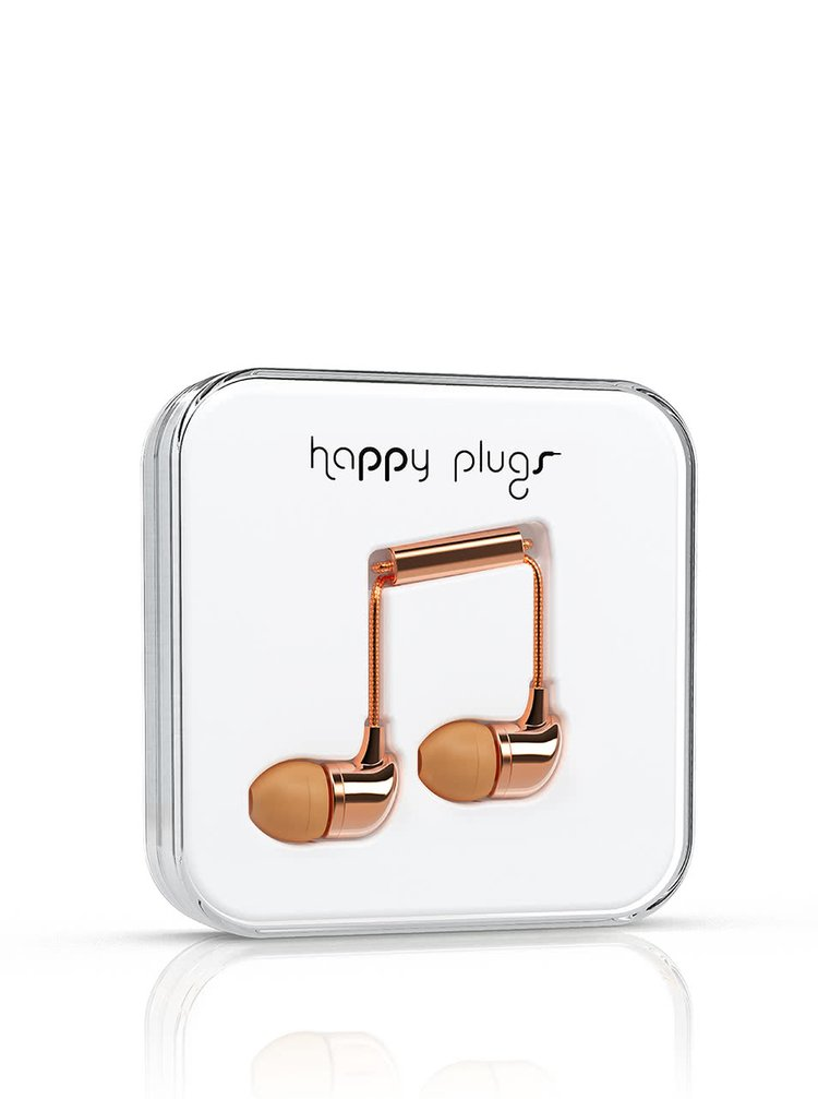 Căști In-Ear Happy Plugs rose-gold