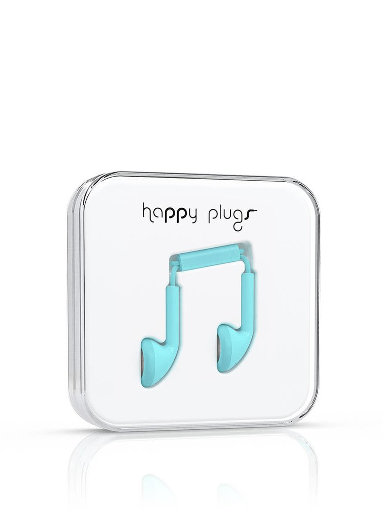 Căști Happy Plugs verde - albăstrui
