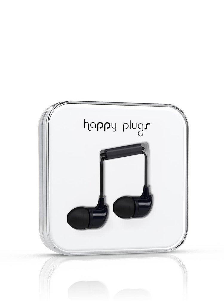 Čierne In-Ear slúchadlá Happy Plugs