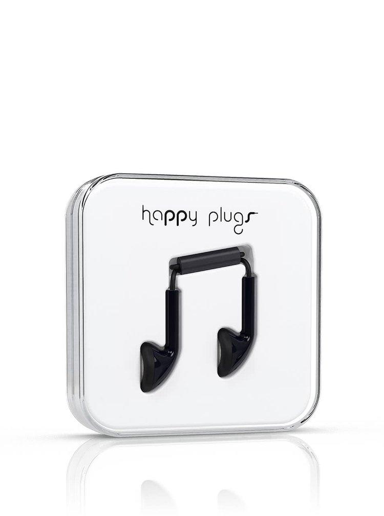 Căști Happy Plugs negre