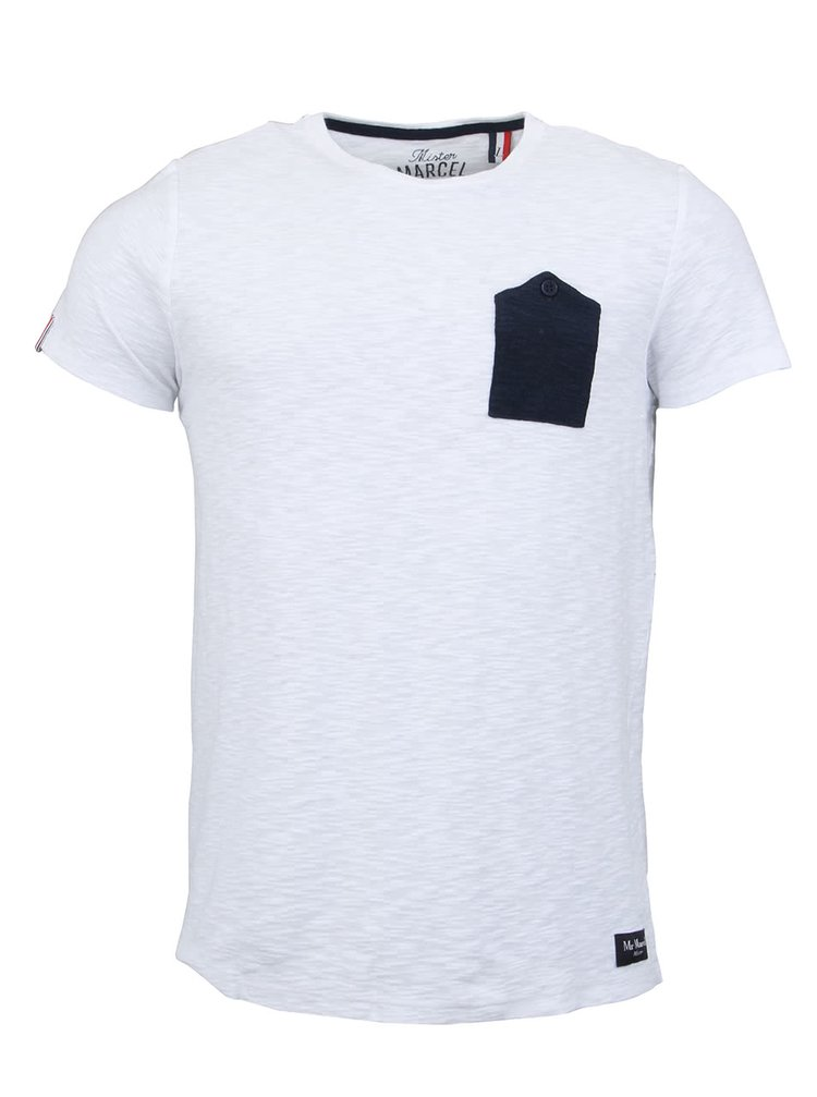 Tricou bărbătesc alb Tipocket de la Mr Marcel