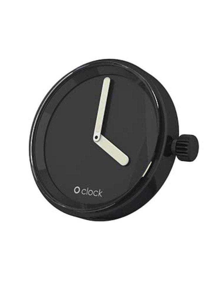 Černý samostatný ciferník O clock