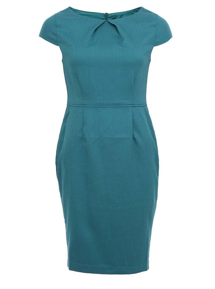Zelené pouzdrové šaty Fever London Canary