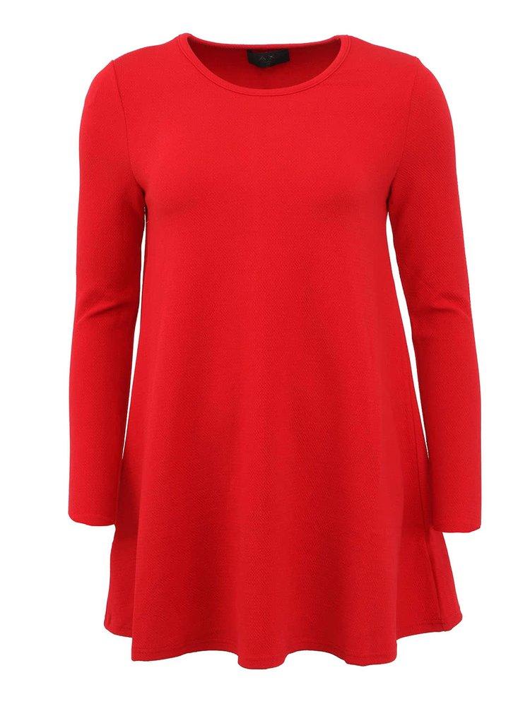 Rochie cu mânecă lungă lejeră roșie AX PARIS
