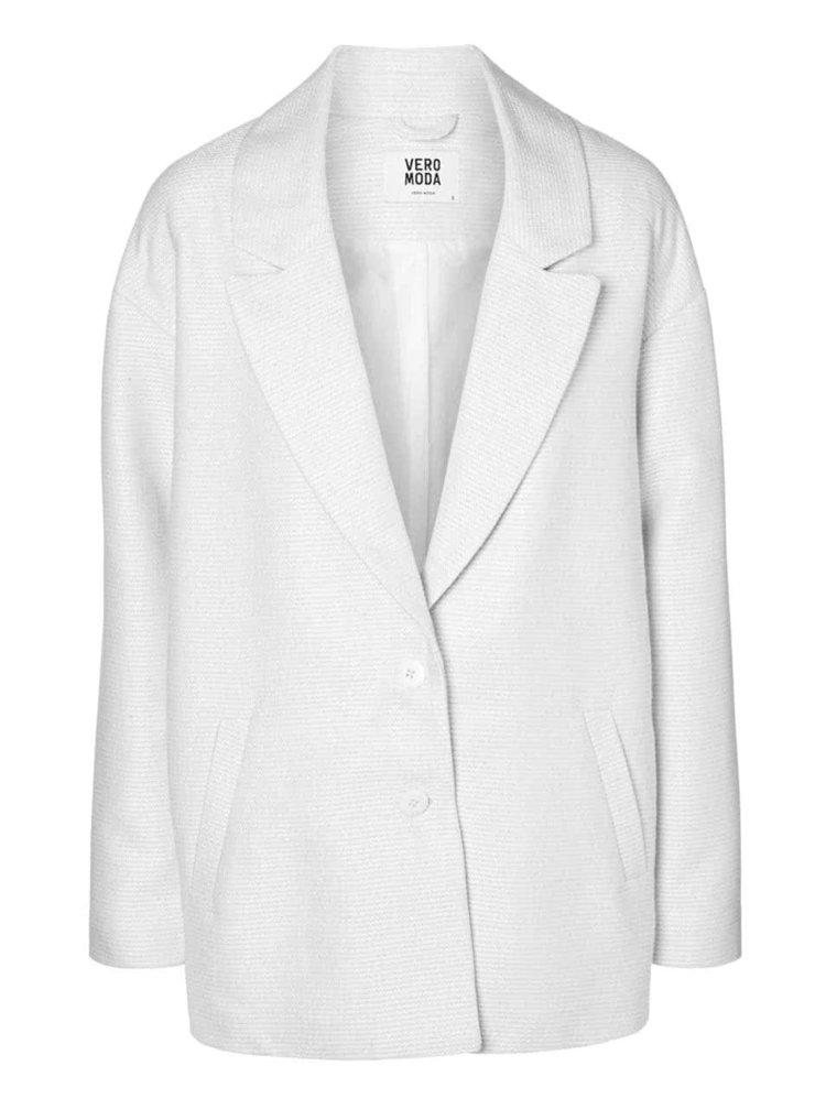 Bílý kabát VERO MODA Noa
