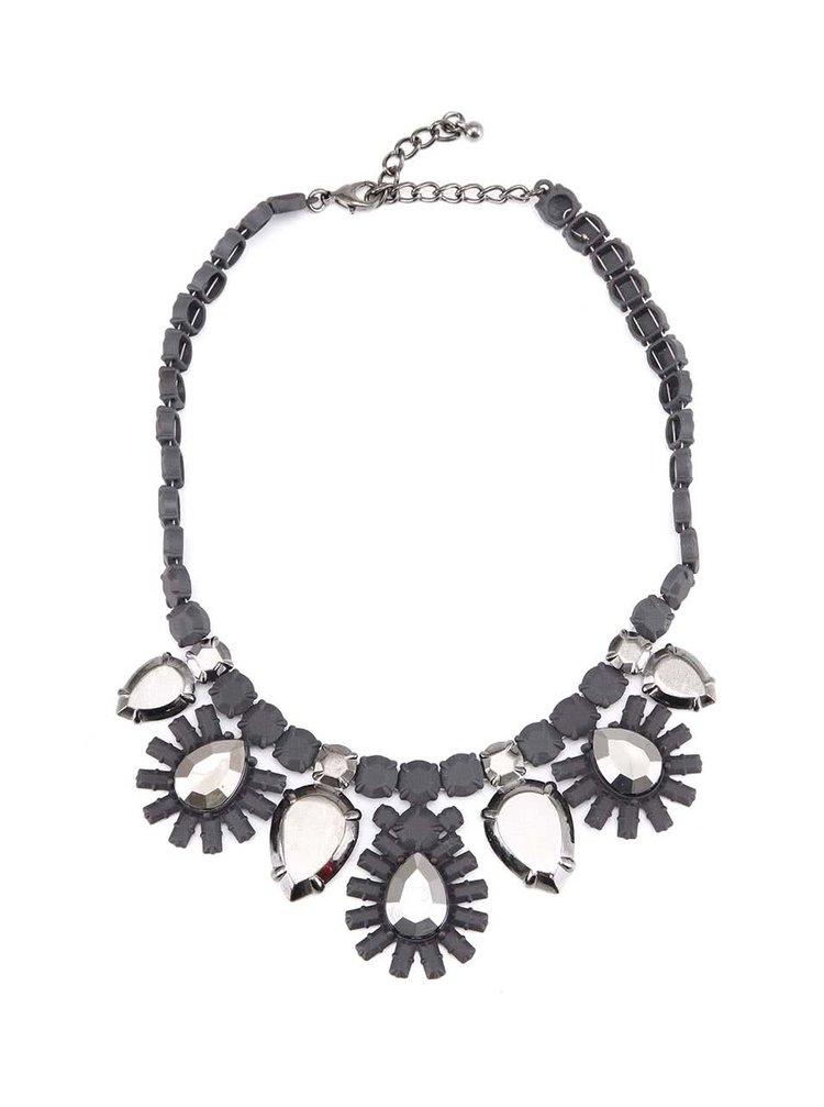 Velký náhrdelník s květinovými vzory Little Mistress