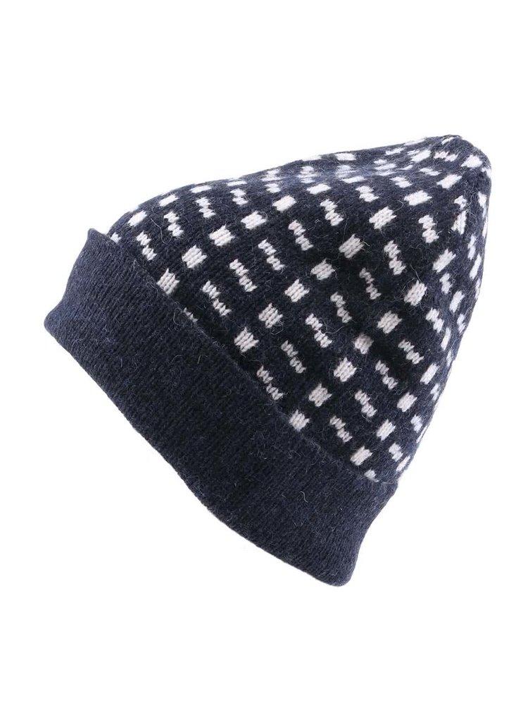 Tmavě modrá vzorovaná čepice Selected Homme Hobson