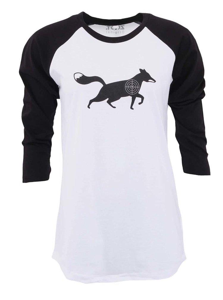 Černo-bílé dámské tričko ZOOT Originál Kořist