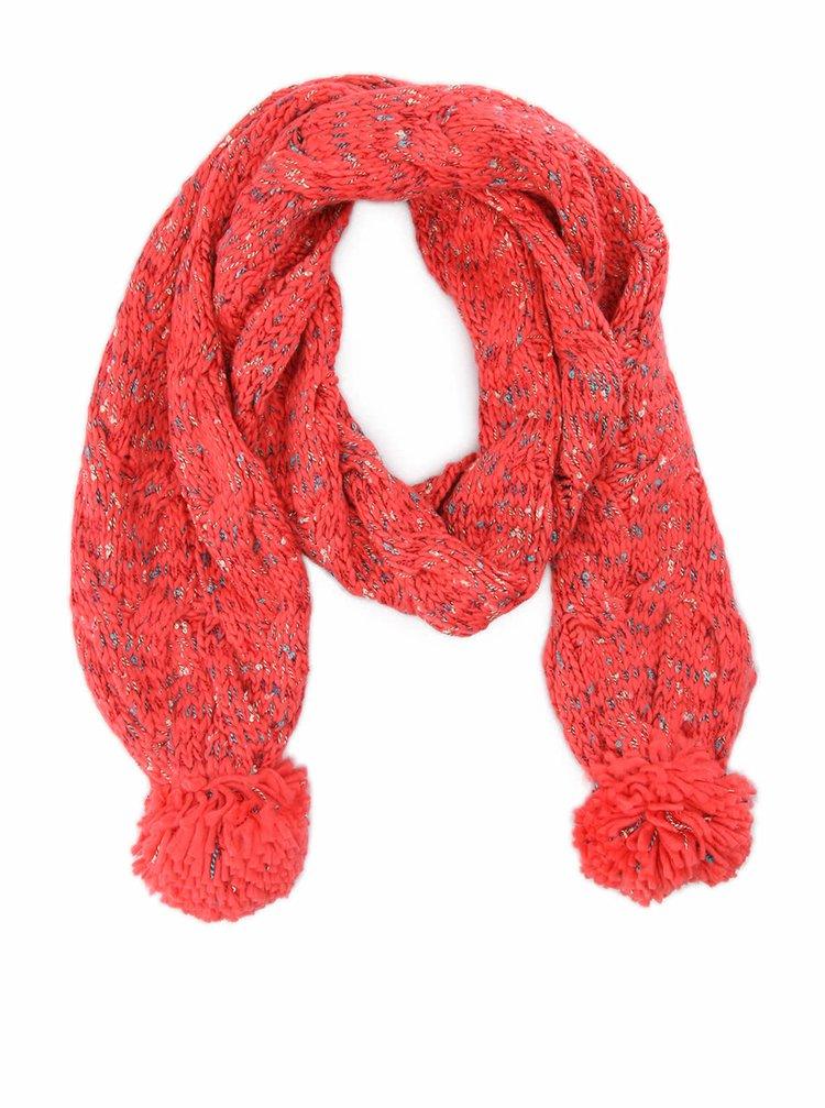Růžová pletená šála GINGER+SOUL