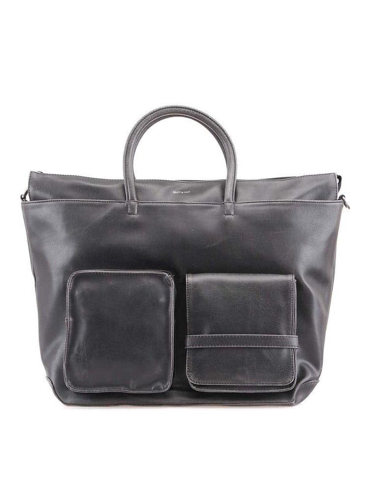 Černá pánská veganská taška Matt & Nat Raylan