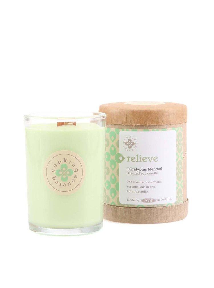 Světle zelená vonná svíčka Root Candles Eucalyptus Menthol - Relieve