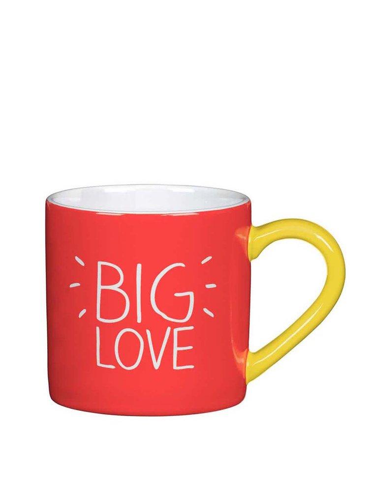Cană Happy Jackson Big Love - roșu