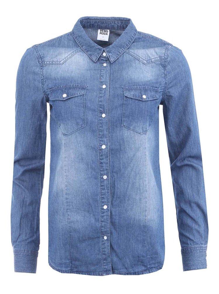 Modrá denimová košile VERO MODA Vera