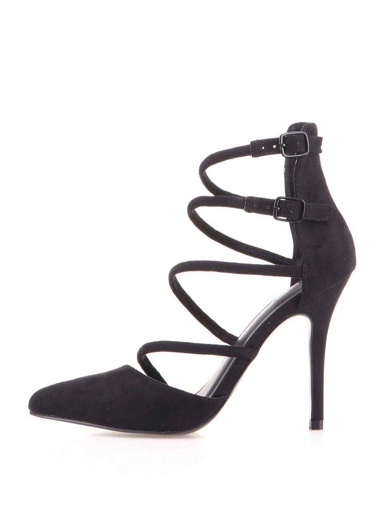 Černé dámské boty na podpadku ALDO Eoweriri