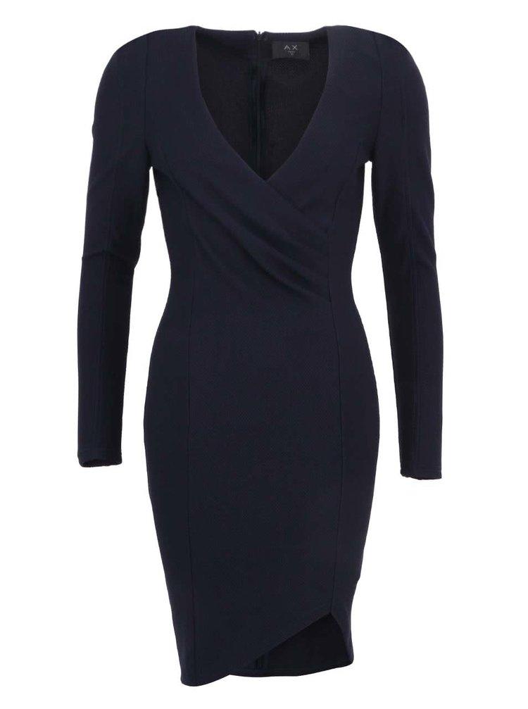 Tmavomodré sexy šaty AX Paris
