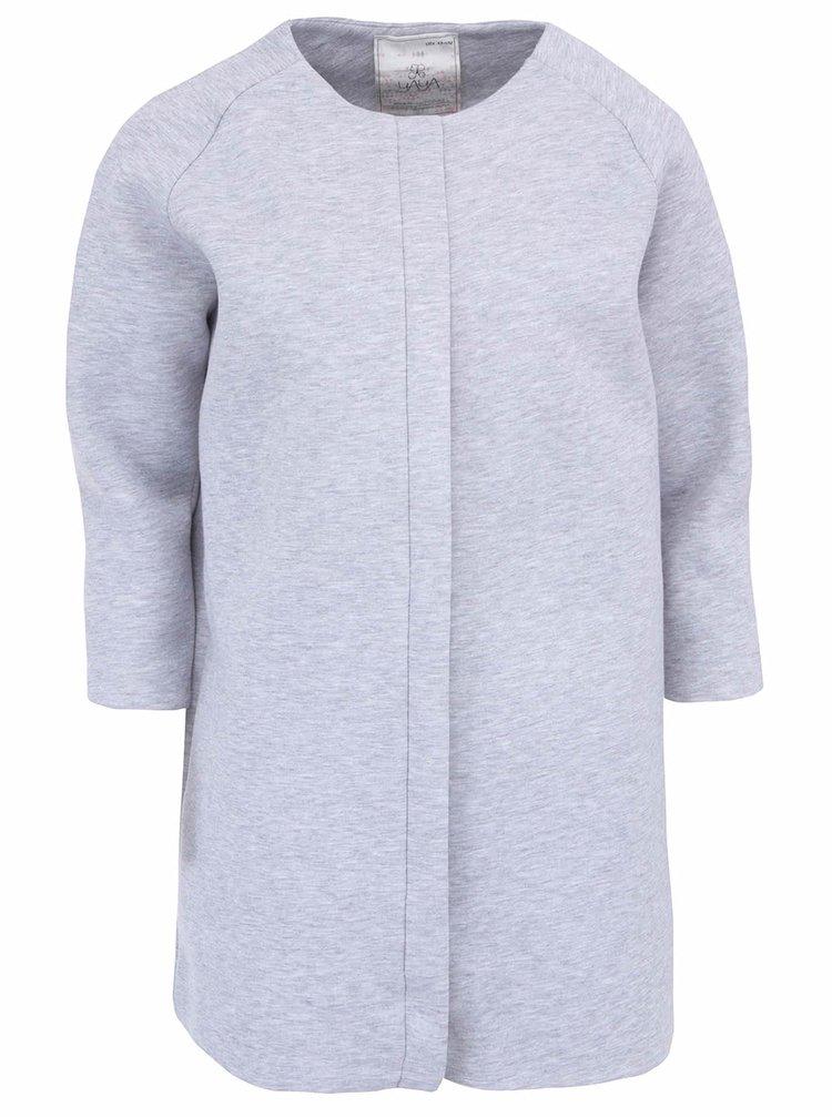 Šedý bavlněný kabát YAYA