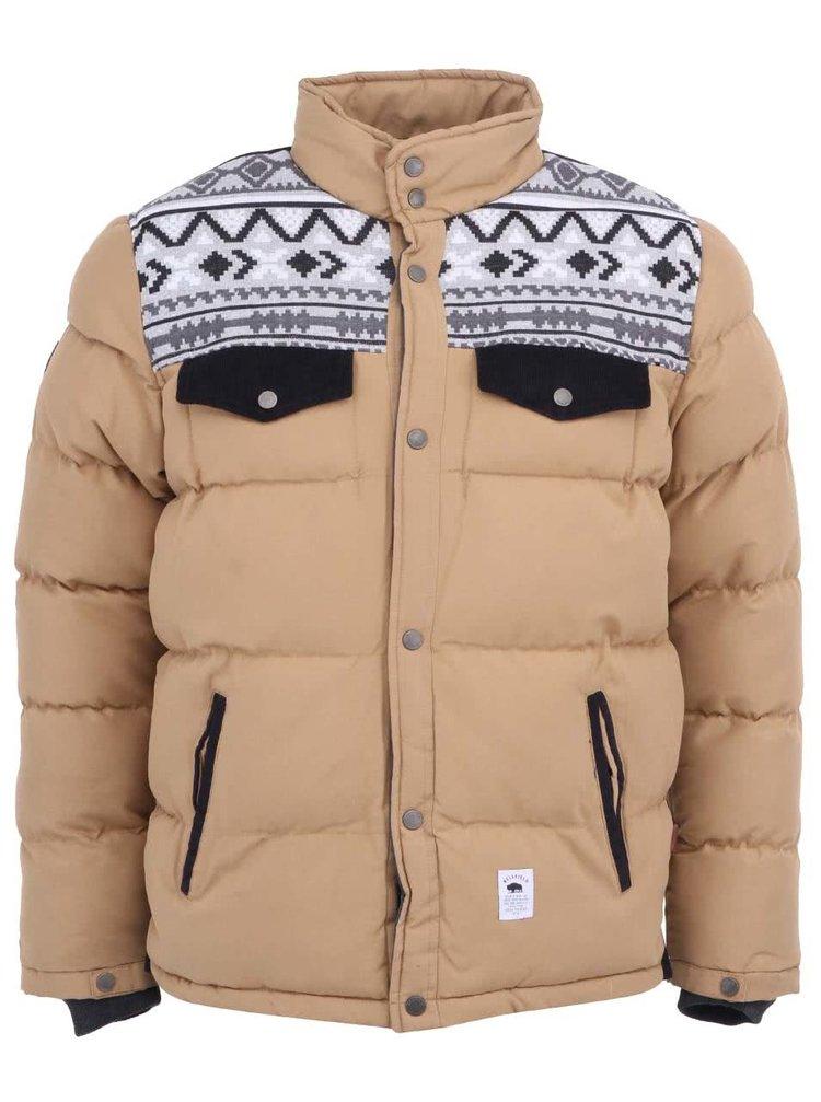 Jachetă bărbătească bej cu imprimeu Bellfield Brom