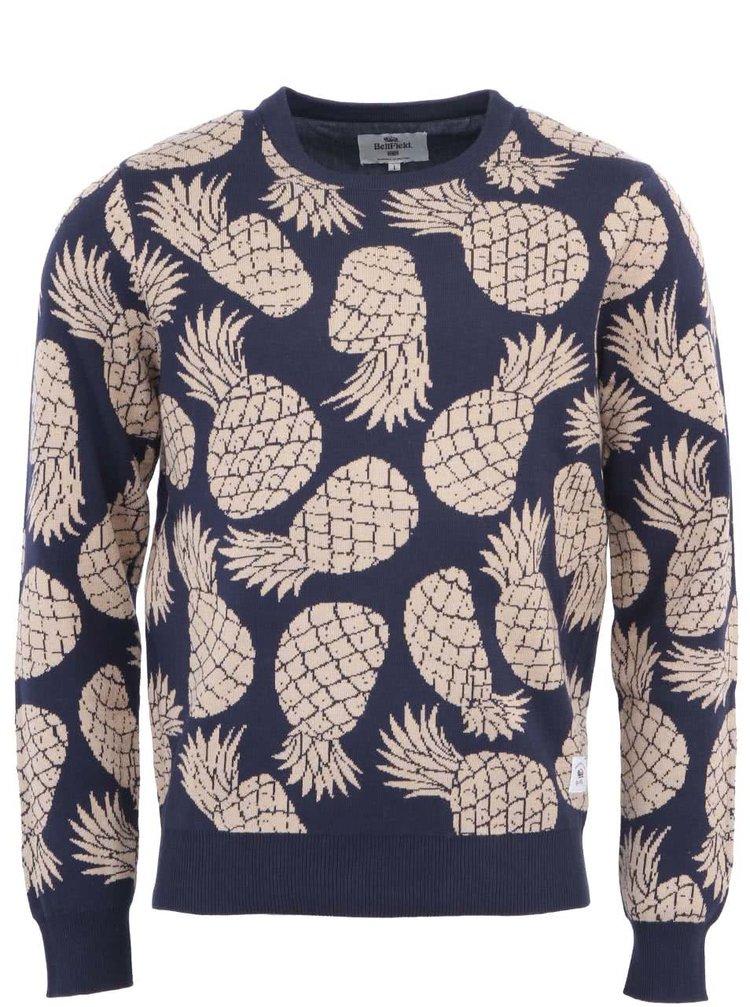 Tmavě modrý svetr s ananasy Bellfield Bandshell