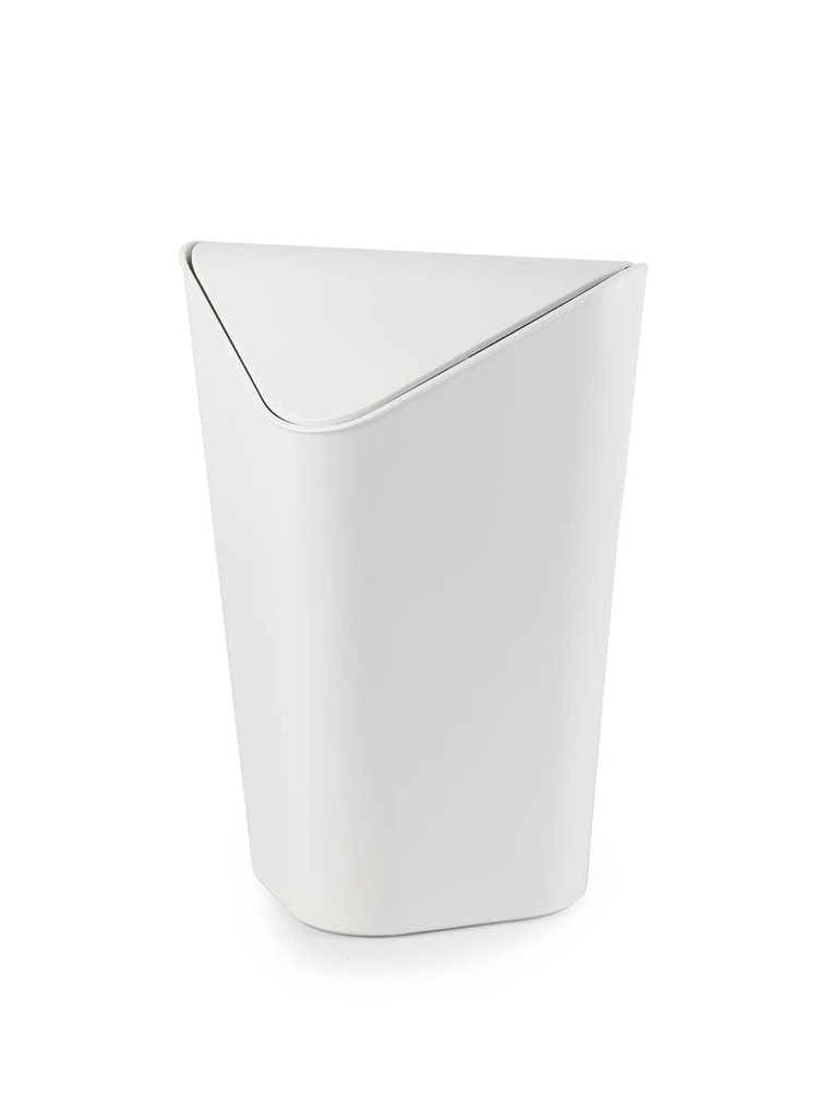 Bílý rohový odpadkový koš Umbra