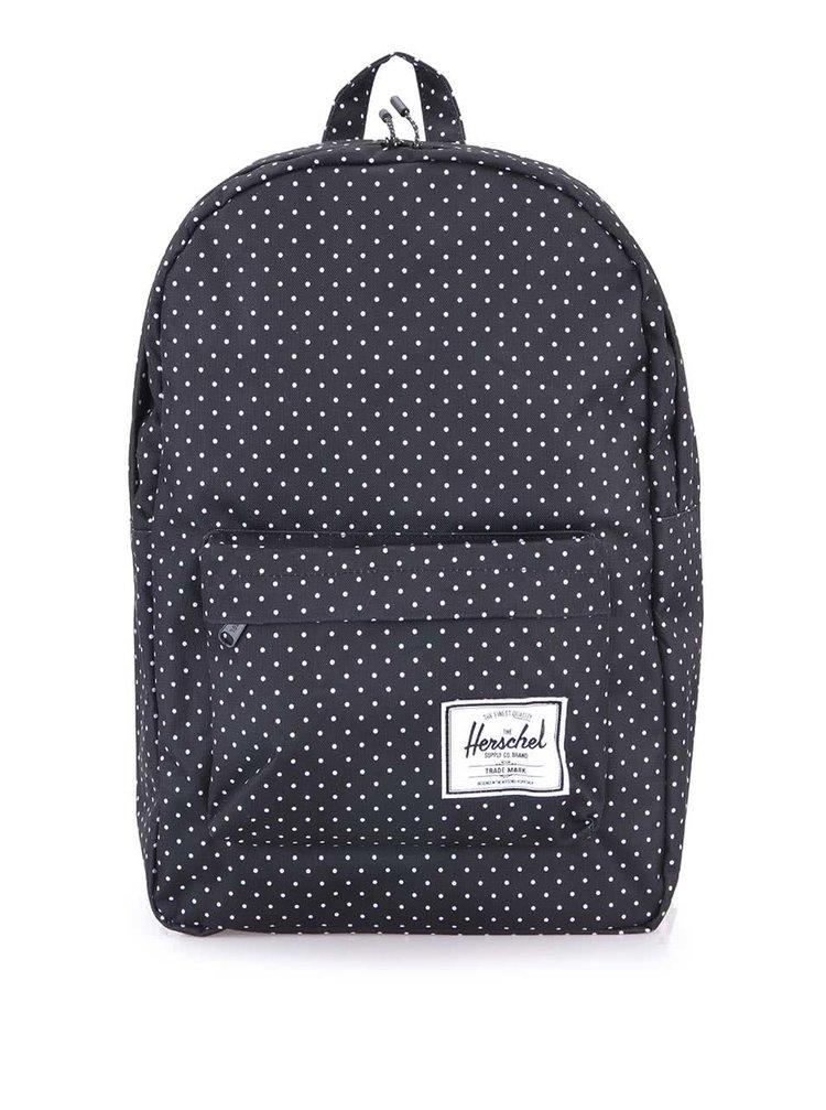 ... Černý batoh s bílými puntíky Herschel Classic 55103fc47c