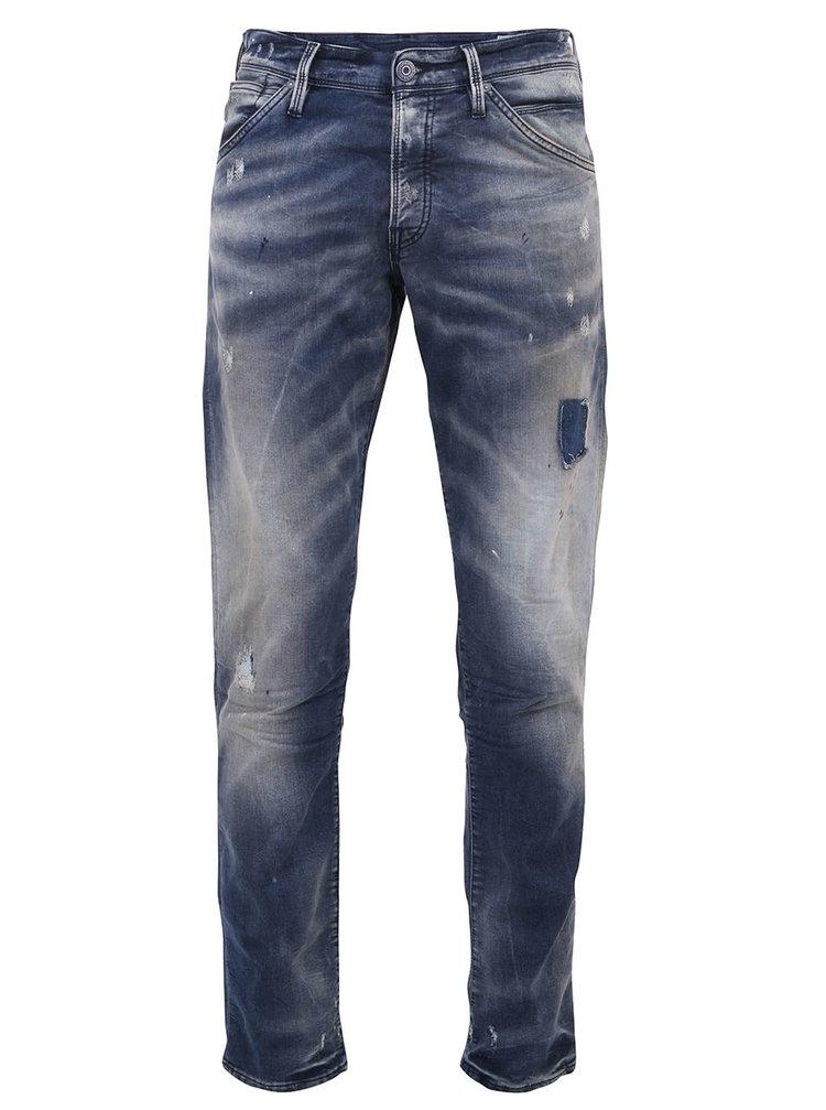 Jeanși navy decolorați Glenn de la Jack & Jones