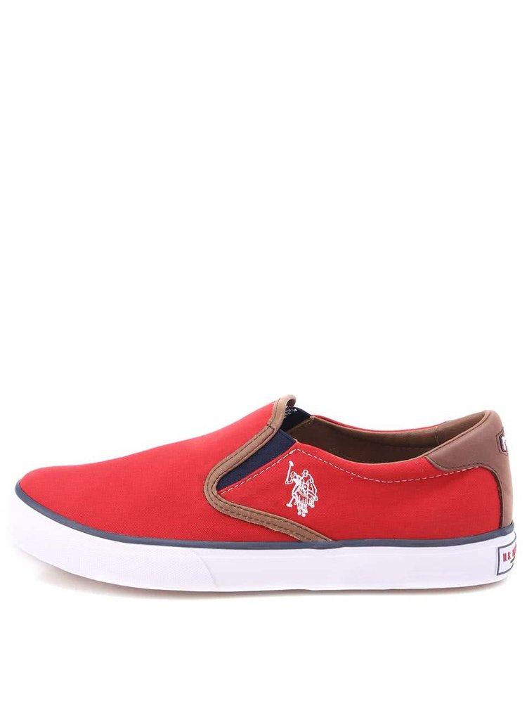 U.S. Polo Assn. Pantofi sport bărbătești roșii de la Leroy