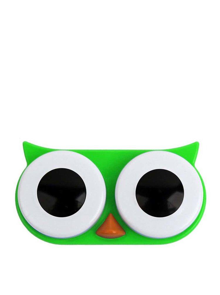 Cutie pentru lentile de contact bufniță verde KIKKERLAND