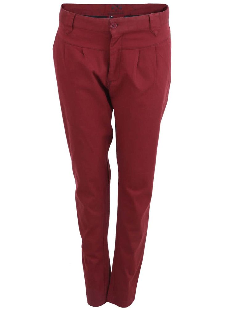 Pantaloni de damă vișinii de la Horsefeathers Cookie